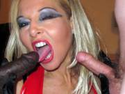 Blondies Interracial Threesome